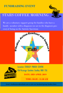 STARS Autism Support Group Fundraising Coffee Morning @ Studley Parish Centre | England | United Kingdom