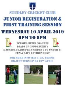 Studley cricket club junior registration @ Studley Cricket Club | England | United Kingdom