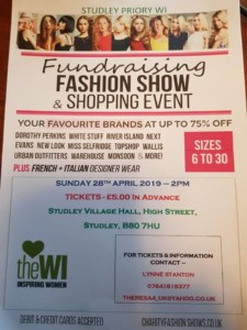 Studley Priory WI Fashion Show (SOLD OUT) @ studley village hall | England | United Kingdom