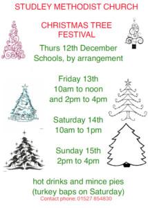 Christmas tree festival @ Methodist church @ Studley Methodist Church | England | United Kingdom