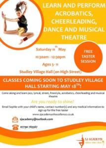 Acrobatics, dance, theatre taster @ Village hall | United Kingdom