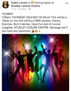 Zumba Taster session @ studley leisure centre | England | United Kingdom