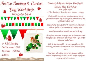 Festive Bunting and Bag Workshop @ psw | England | United Kingdom