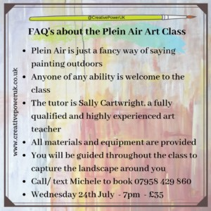 Plein Air painting course @ Studley. TBC