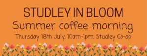 Studley in bloom coffee morning @ co op store | England | United Kingdom