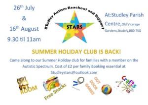 STARS Autism reachout holiday club @ parish centre | England | United Kingdom