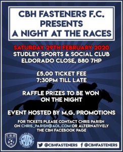 A Night at the Races @ Sports and social @ studley sports and social club | United Kingdom