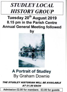 Studley local history group: A portrait of Studley @ Parish centre   England   United Kingdom