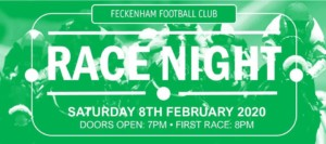 Feckenham FC race night@ Sports and social @ studley sports and social club | United Kingdom