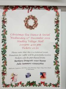 Christmas Tea Dance @Studley village Hall @ village hall | United Kingdom