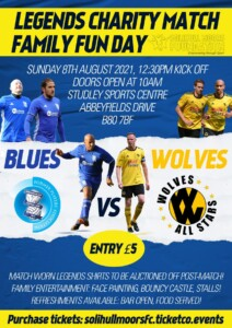 Legends Charity Match and Family Fun Day@ Studley Sports Centre @ Studley Sports Centre | England | United Kingdom